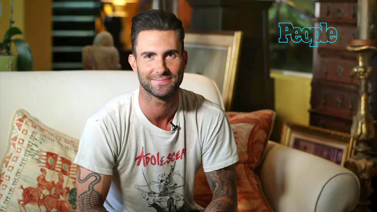 Adam Levine gives an interview about being named People magazines Sexiest Man Alive for 2013. (Nov. 20, 2013, courtesy of People)