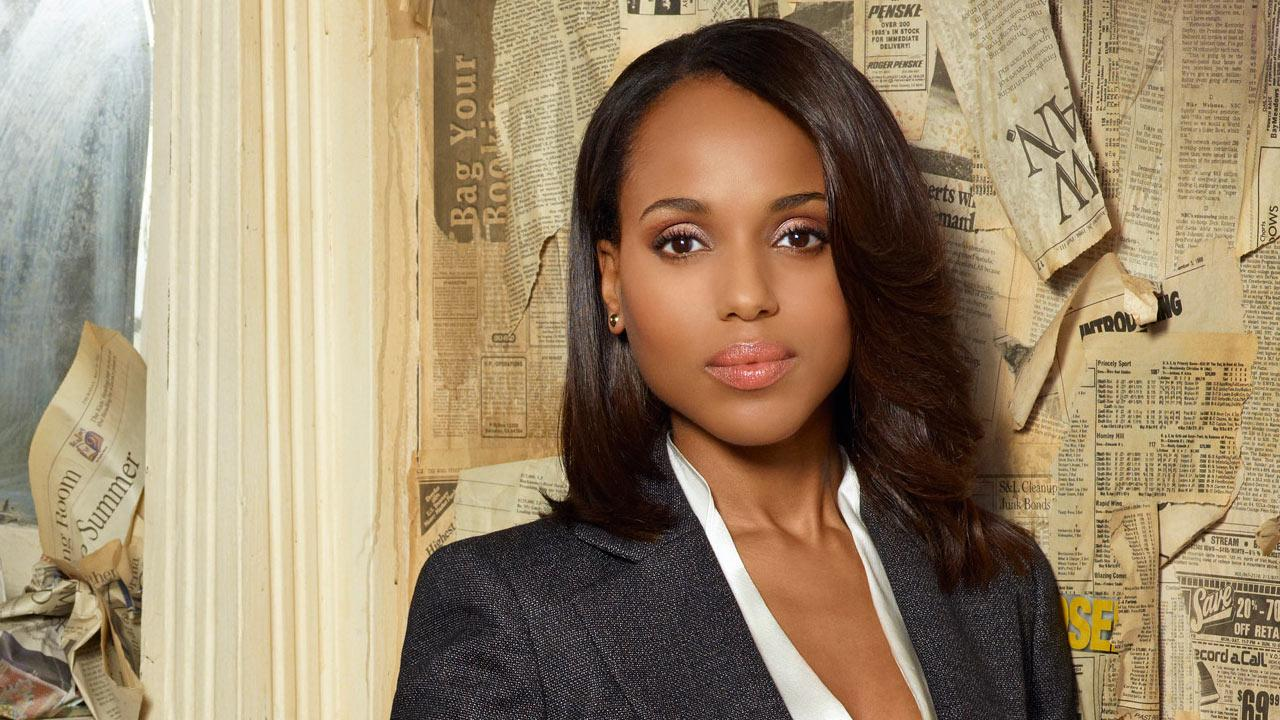 Kerry Washington appears in the Scandal season 3 promotional photo in 2013.