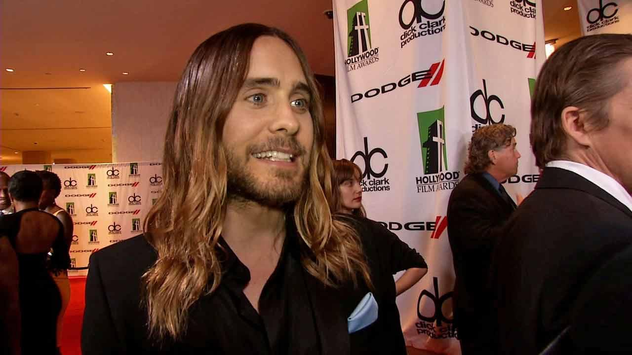 Jared Leto spoke to OTRC.com at the 17th annual Hollywood Film Awards on Oct. 21, 2013.