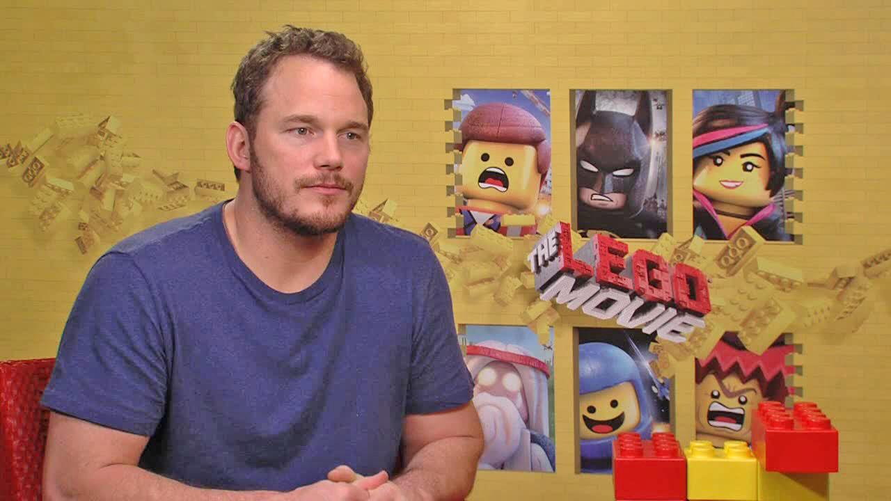 Chris Pratt appears in a 2014 interview for the film The Lego Movie provided by Warner Bros. Pictures.