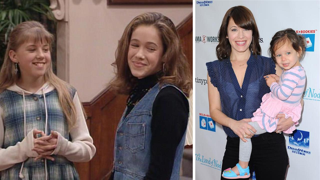 Marla Sokoloff appears as Gia Mahan on the show Full House. / Marla Sokoloff appears with daughter Elliotte at the Milk + Bookies Story Time Celebration held at The Skirball Center in Los Angeles on April 27, 2014.Jeff Franklin Productions / ABC / Hollywood Press / Startraksphoto.com