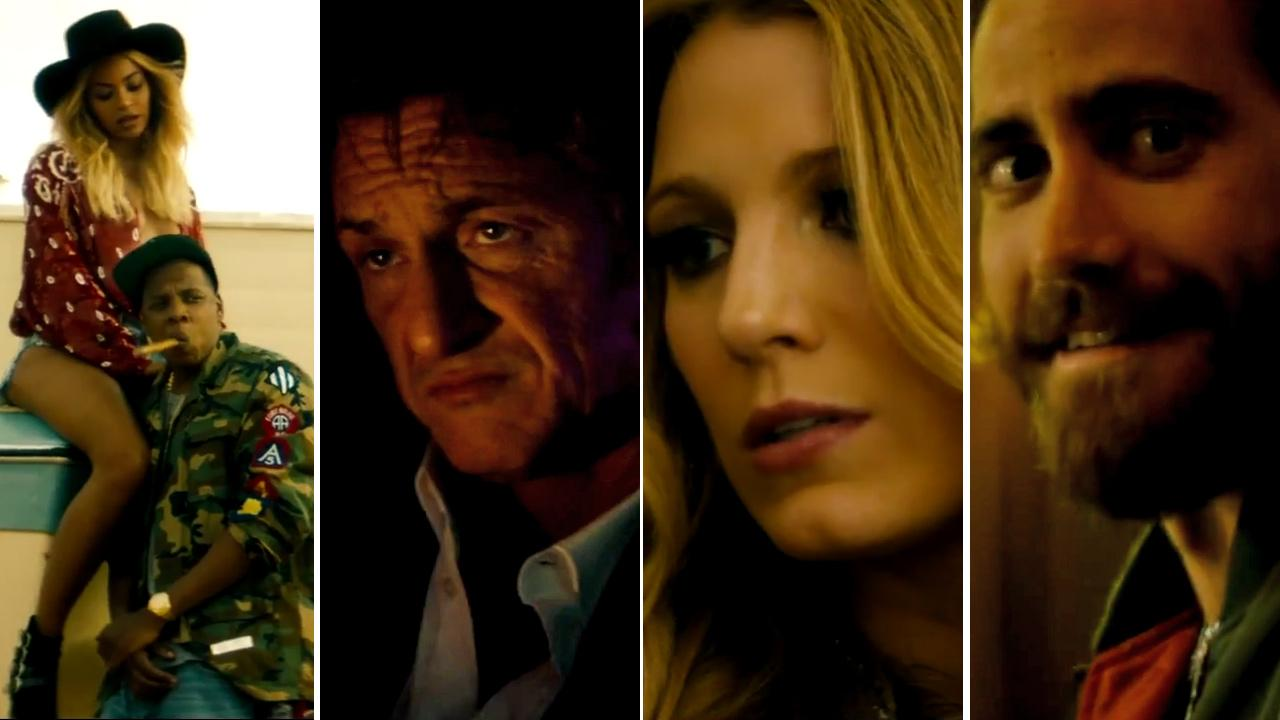 Beyonce, Jay Z, Sean Penn, Jake Gyllenhaal and Blake Lively appear in scenes from the short film RUN, which was released on May 17, 2014.