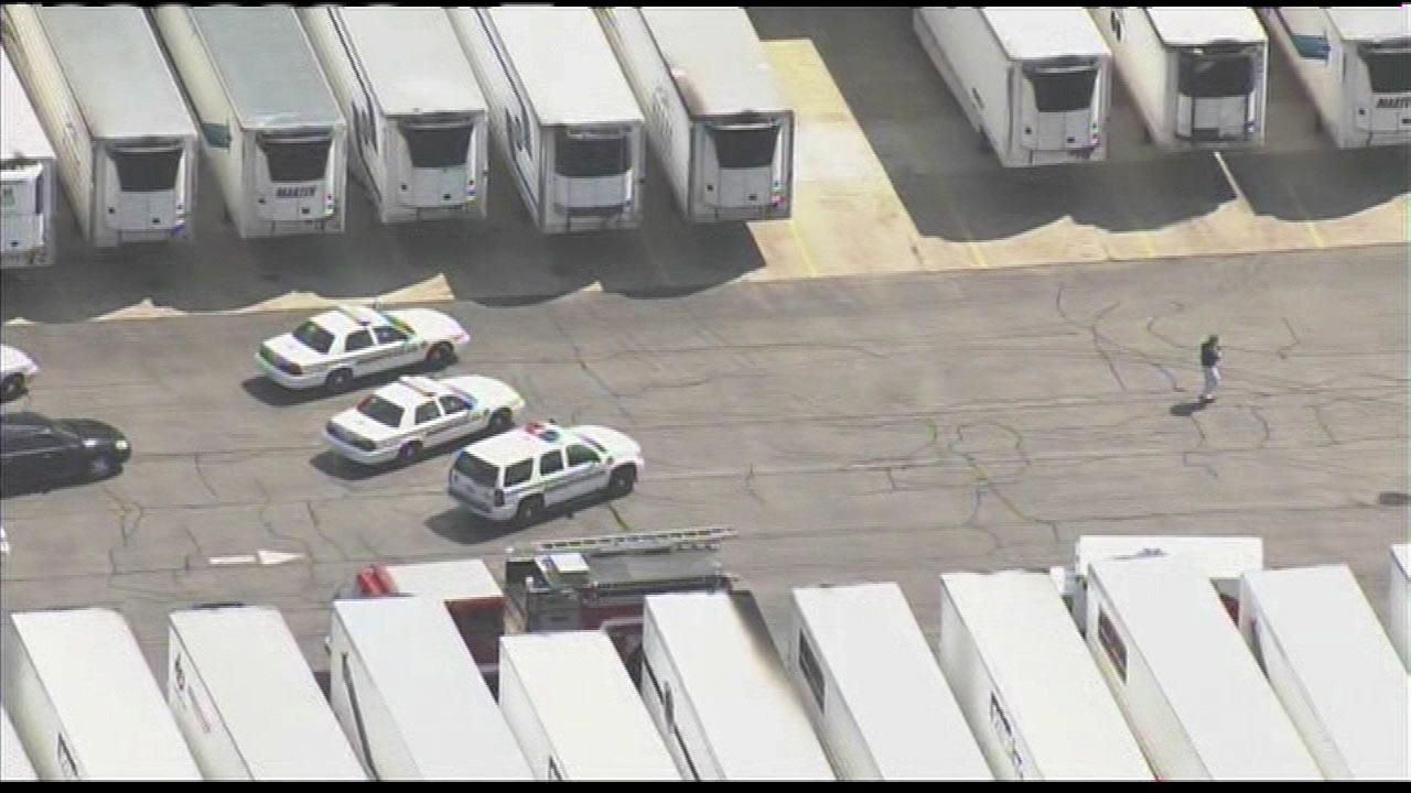 Police say a man shot a fellow employee at a warehouse in Manteno, Ill., on Wednesday afternoon, July 25, 2012.