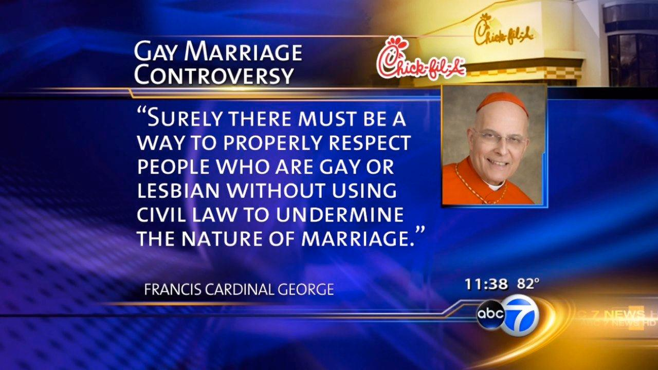 Cardinal George enters Chick-Fil-A debate