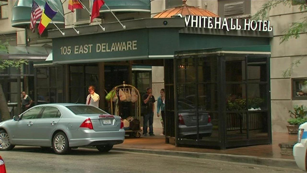 A 23-year-old woman was found dead with a gunshot wound at the Whitehall Hotel in Chicagos Gold Coast neighborhood Monday morning, August 13, 2012.