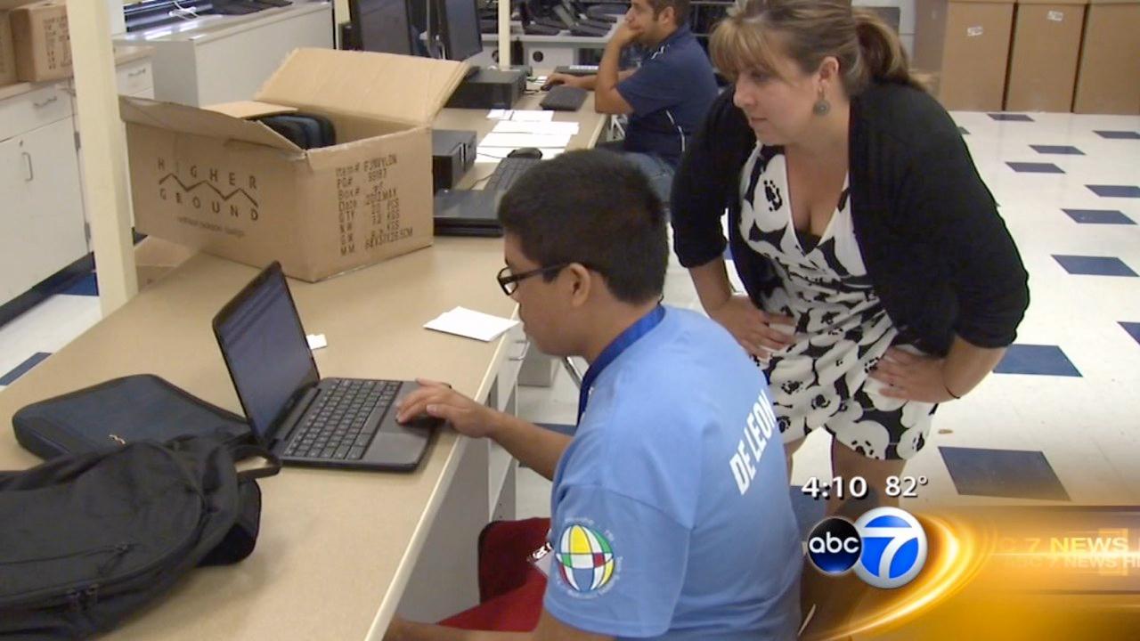Leyden HS students get free laptops