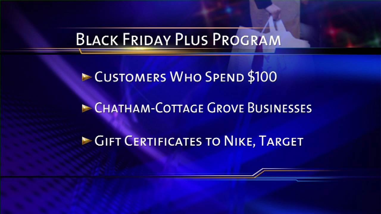 Black Friday gift cards for shopping Chatham-Cottage Grove stores
