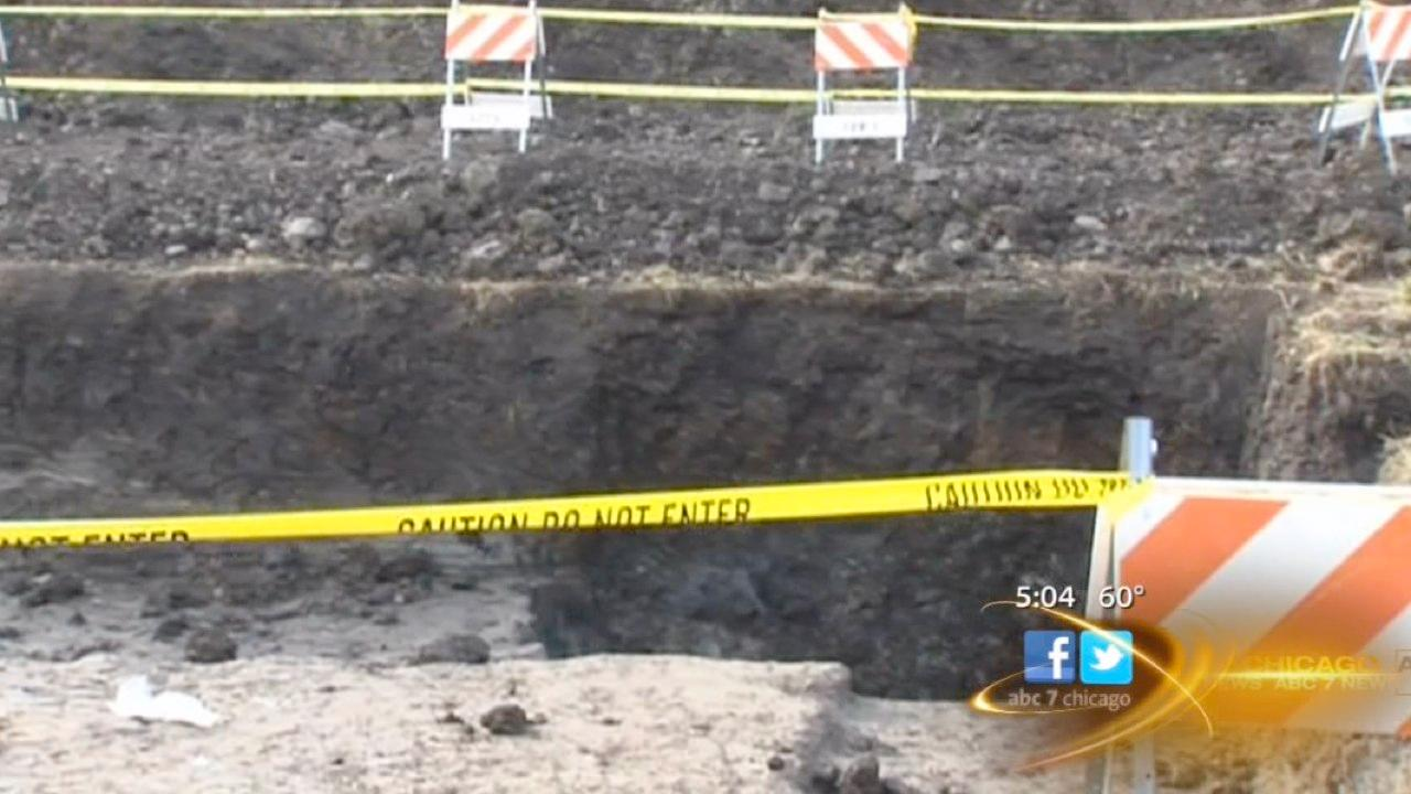 Two suburban girls rescued from construction site hole