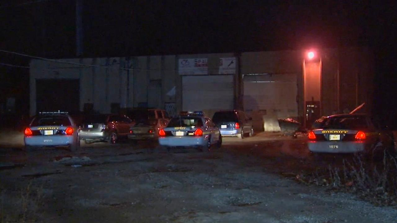 Police in suburban Dolton have broken up a dog-fighting ring.   Officers were called to an industrial park on 142nd Street where they took several people into custody,  Wednesday night, Dec. 5, 2012.