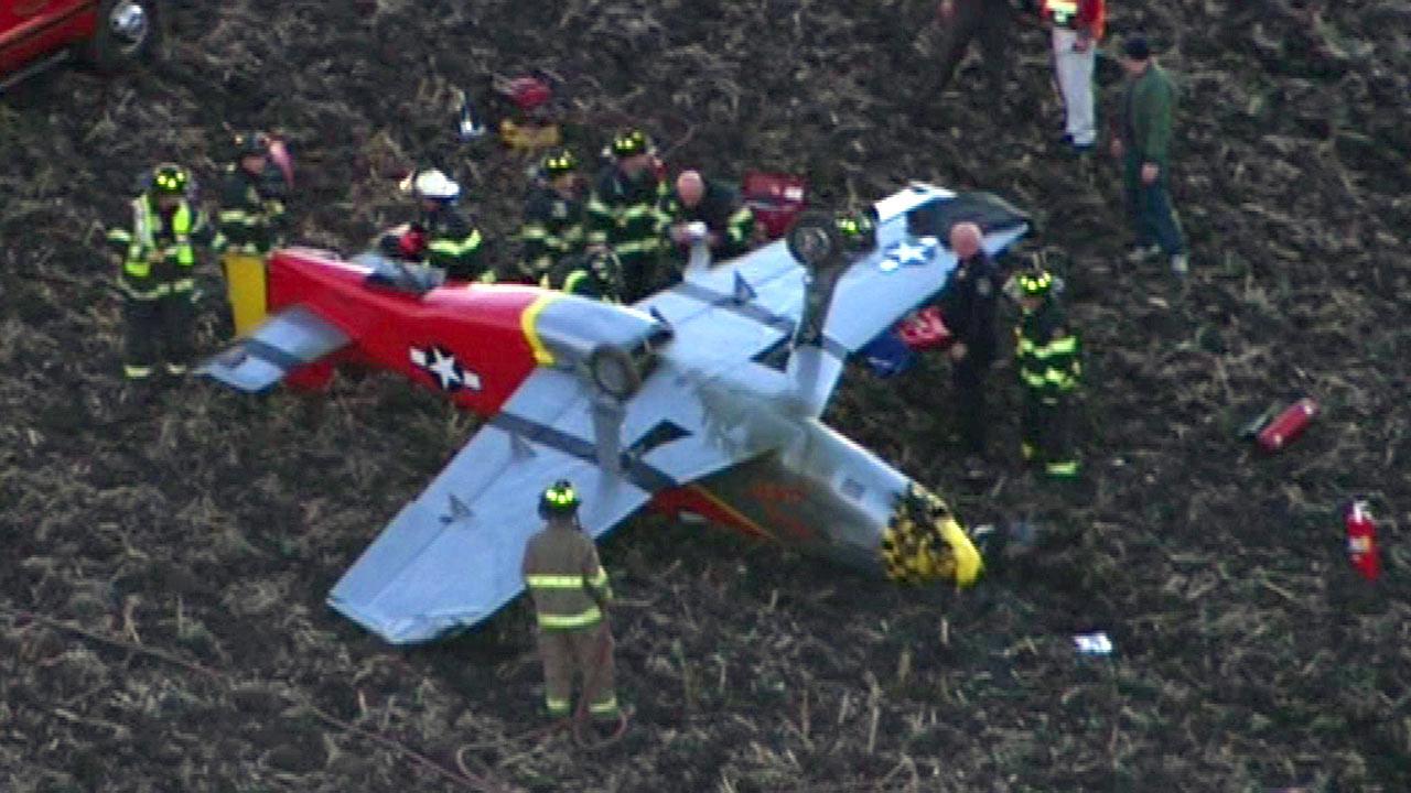 Chopper 7 HD was over the scene of a small plane crash near DeKalb  Municipal Airport, Tuesday, December 11, 2012.