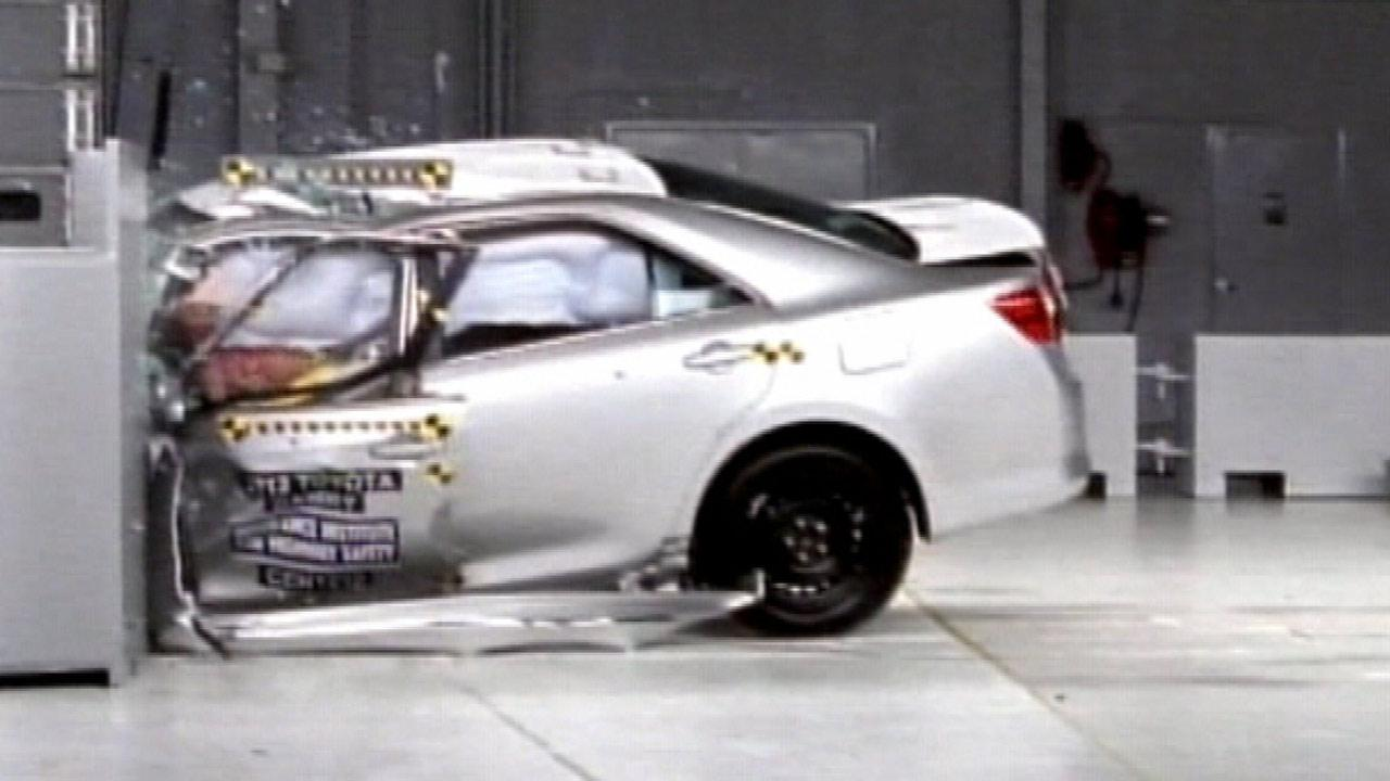 This is the first time the Insurance Institute for Highway Safety put moderately priced cars to through its rigid, frontal impact tests.