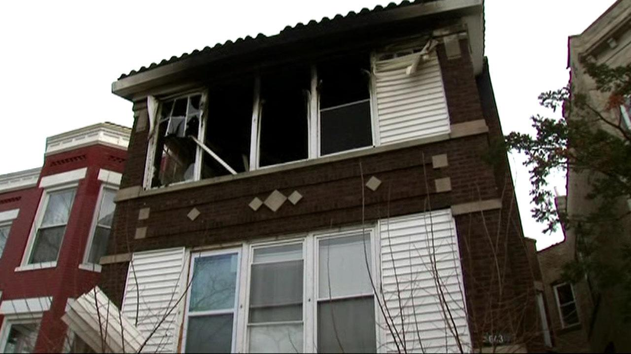 Three people were rushed to the hospital after a house fire in Chicagos West Englewood neighborhood, Friday, January 18, 2013.