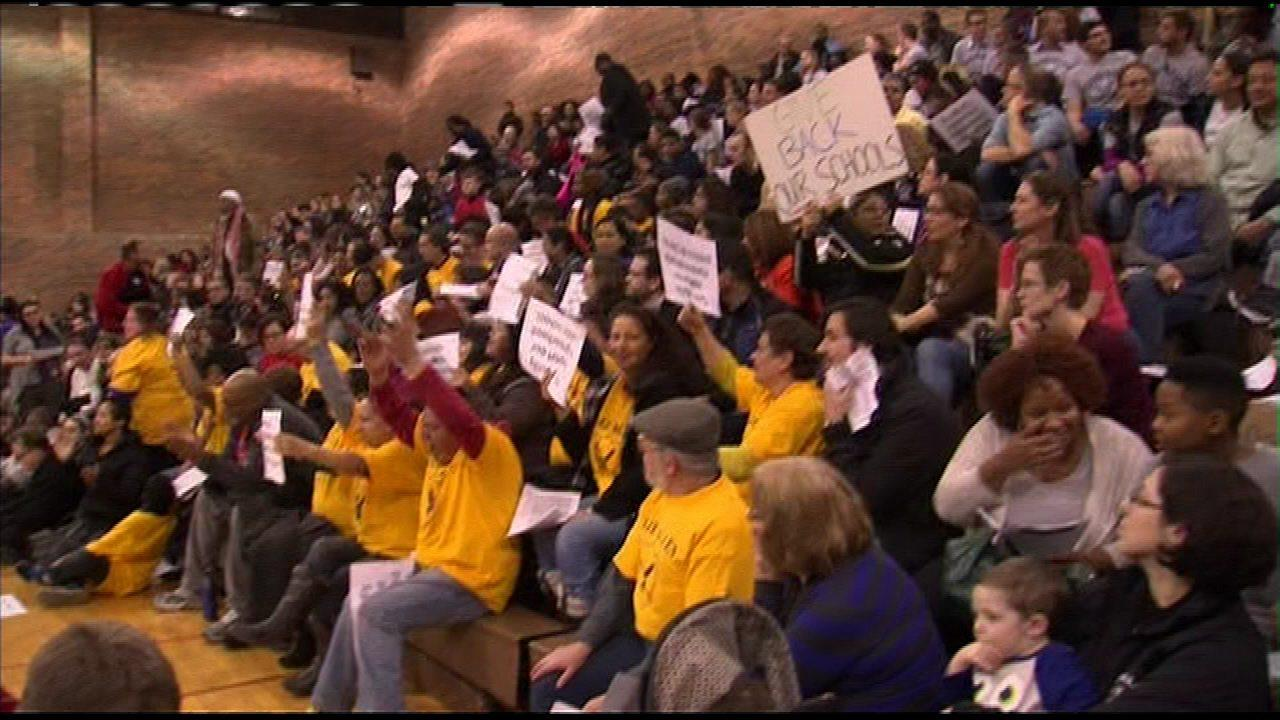 CPS hearing about possible school closures turns rowdy
