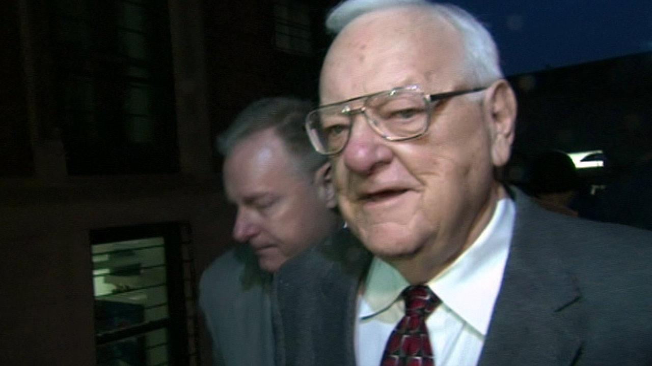 Former Illinois governor George Ryan arrives at the Freedom Center halfway house in Chicago, Wednesday, January 30, 2013.