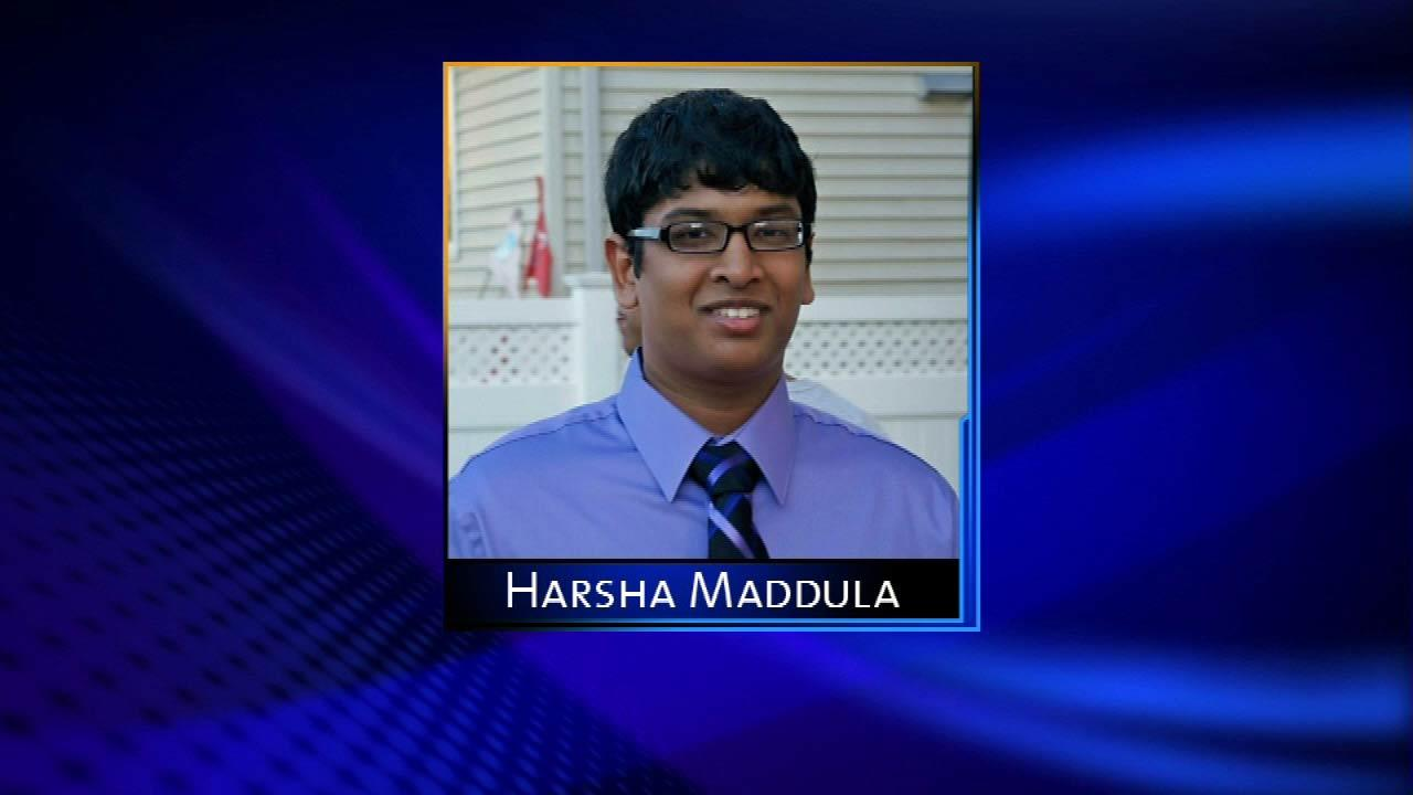 Harsha Maddula- Missing 9/21/12, Found in Wilmette Harbor 9/25/12, Northwestern IL Univ. pre-med Sophomore, went out with friends then disappeared.