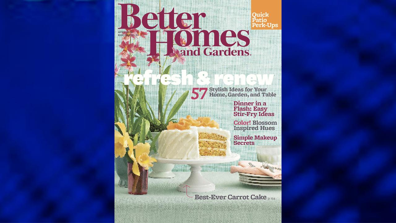 Awards coverage begins in the April issue of Better Homes and Gardens on newsstands March 18th.