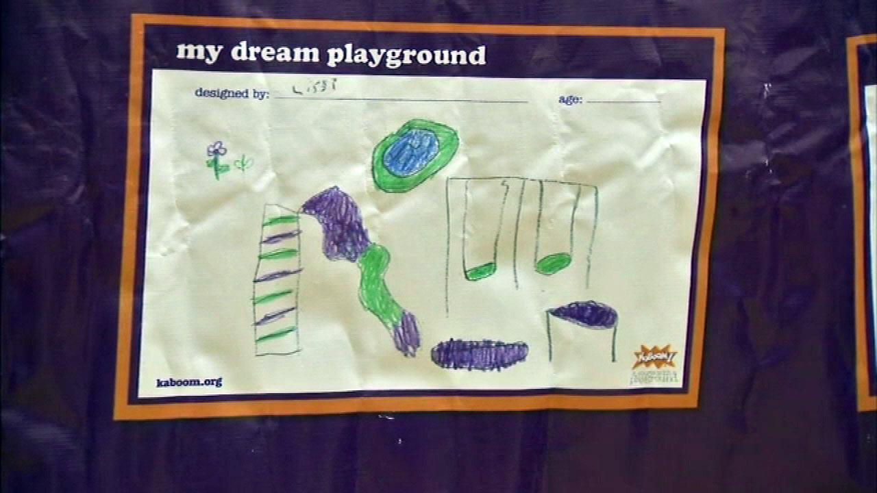 Kids help design KaBOOM! playground