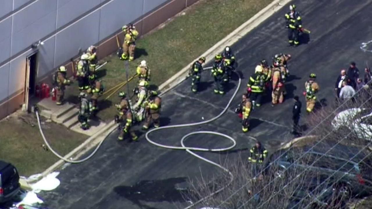 Two people were hurt in an apparent explosion at a Glendale Heights sheet metal plant.