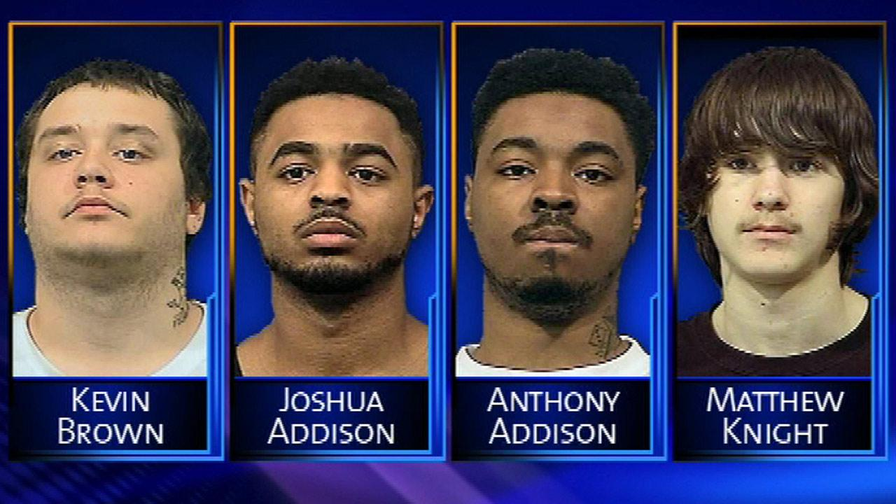 Kevin Dale Brown, Anthony Paul Addison and his brother Joshua Nathaniel Addison, and Matthew Knight are accused in the fatal shooting of Depree Mims.
