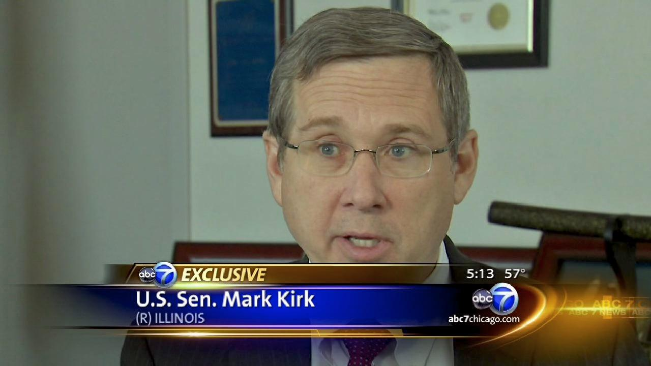 Mark Kirk in exclusive interview with ABC7's Paul Meincke