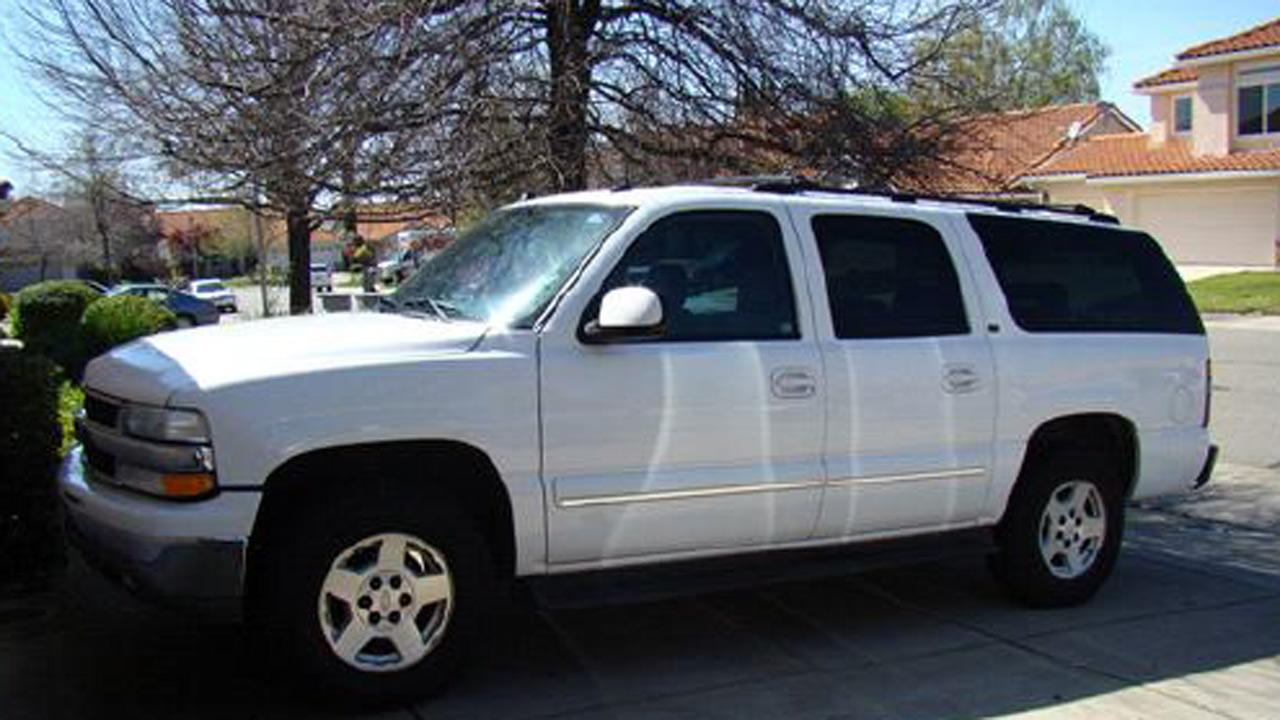 A Chevy Suburban  is pictured.(not the actual offending vehicle)
