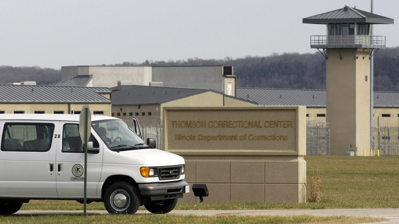 A van drives past the Thomson Correctional Center in Thomson, Illinois, in this AP file photo. (AP Photo/M. Spencer Green, File)