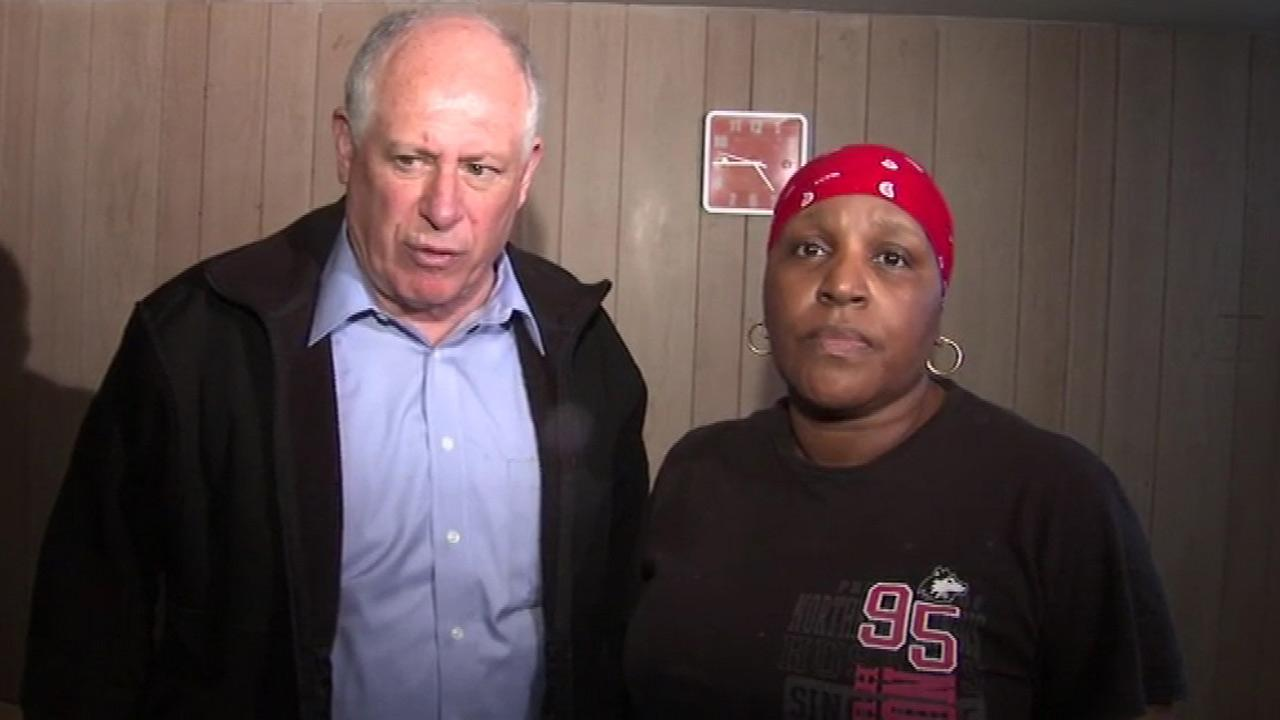 Illinois Governor Pat Quinn was in the Chicago area Friday, April 19, 2013, to tour some of the suburbs that are dealing with severe flooding.