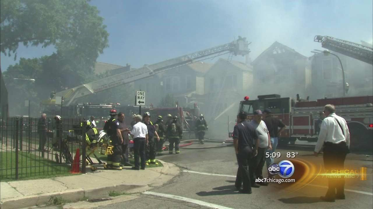 Canaryville fire burns 4 homes | Neighborhood boy alerts residents