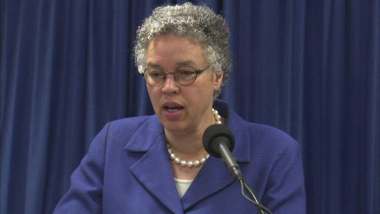 Cook County President Toni Preckwinkle says her new budget reduces the deficit and doesnt include any new taxes, fines or fees.