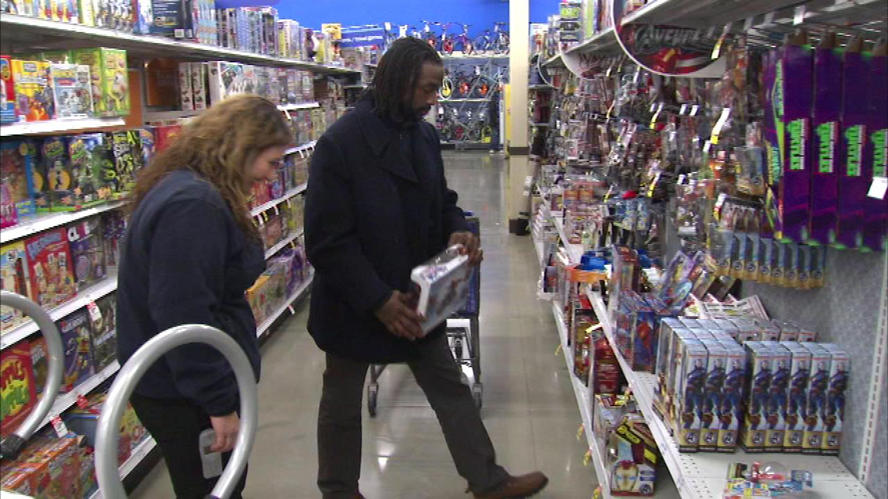 Charles Tillman was at the Meijer in Evergreen Park buying toys for children whose families could some help this holiday season.