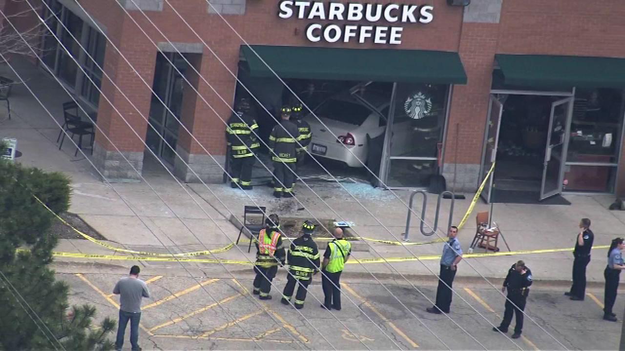 Car crashes into Starbucks in Schaumburg, injuring 3 people