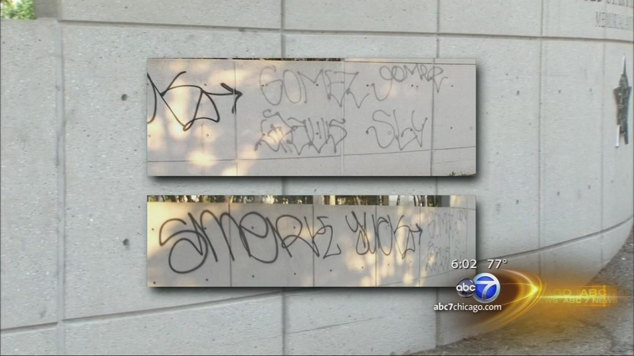 CPD memorial defaced by vandals