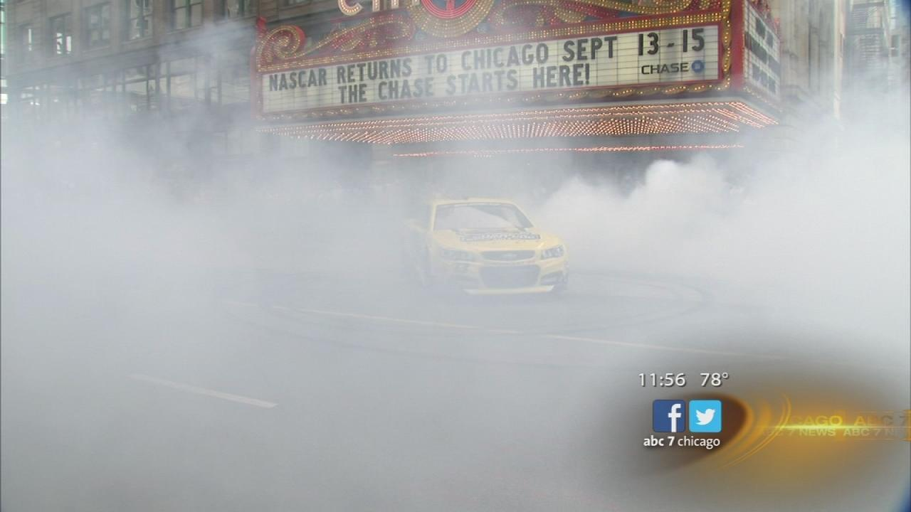 Earnhardt Jr. makes NASCARs Chicago presence known