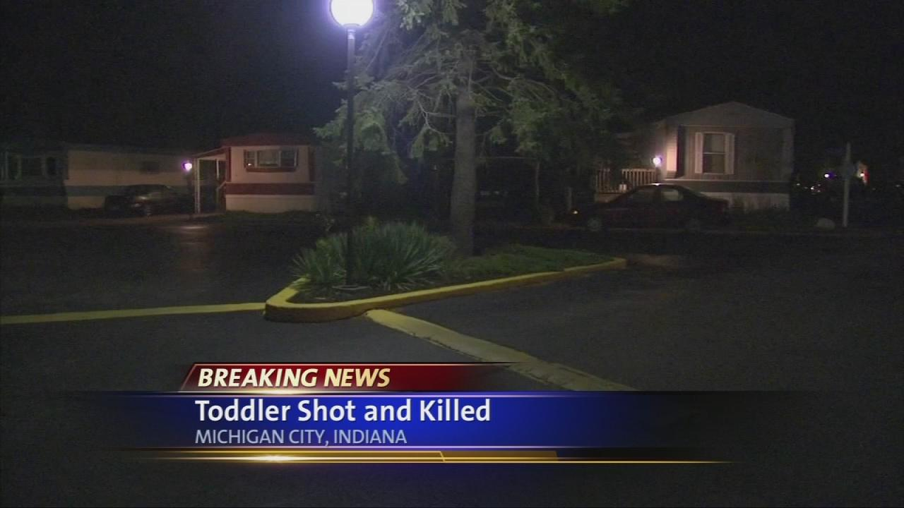 Toddler shot to death inside Ind. mobile home