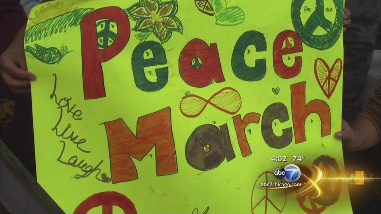 Peace march in Back of the Yards neighborhood