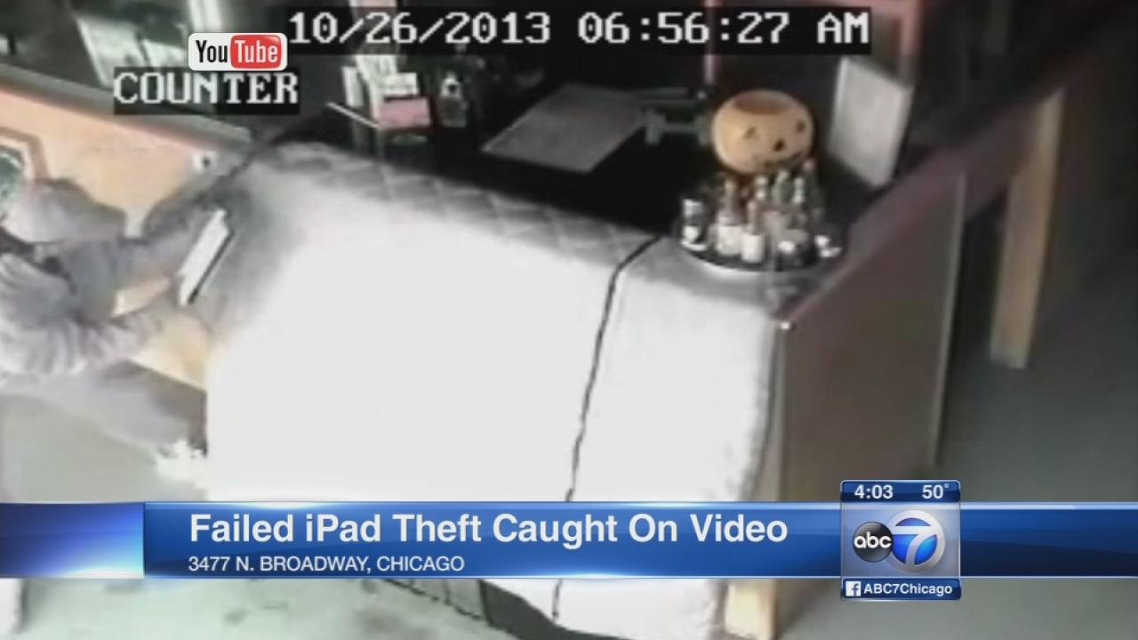 Pie Hole Pizza iPad thief thwarted by tether
