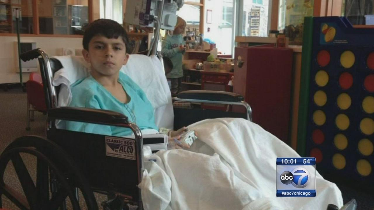 Boy recovering from pit bull attack