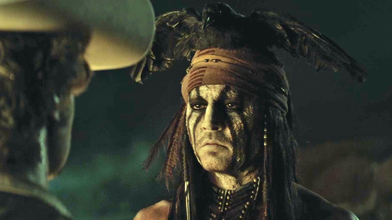 Johnny Depp appears in a scene from the 2013 movie The Lone Ranger.