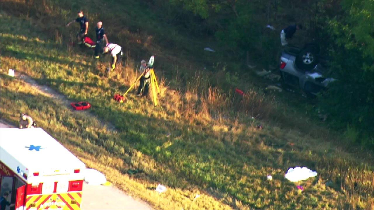 Illinois State Police confirm four people are dead in a rollover at I-290 and Route 83 in Addison.