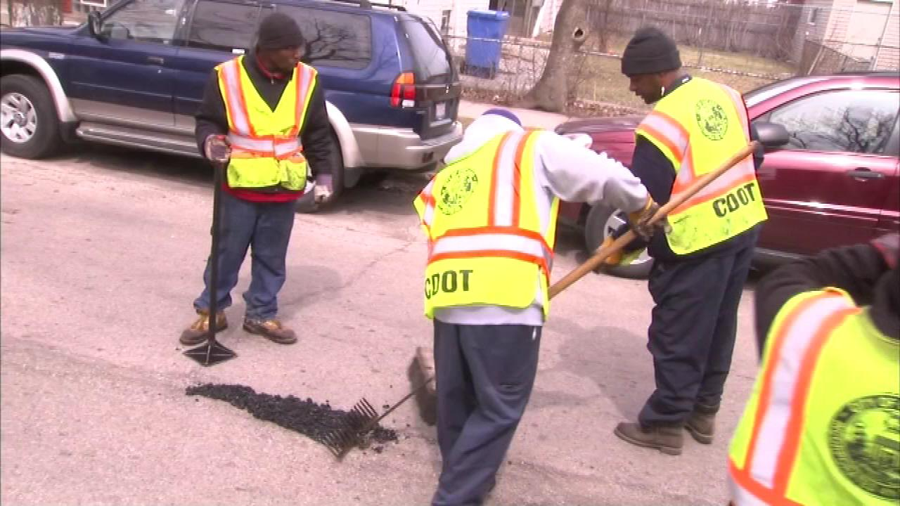 Mayor Rahm Emanuel said an extra $15 million left over from completed city projects will be used for pothole repairs.