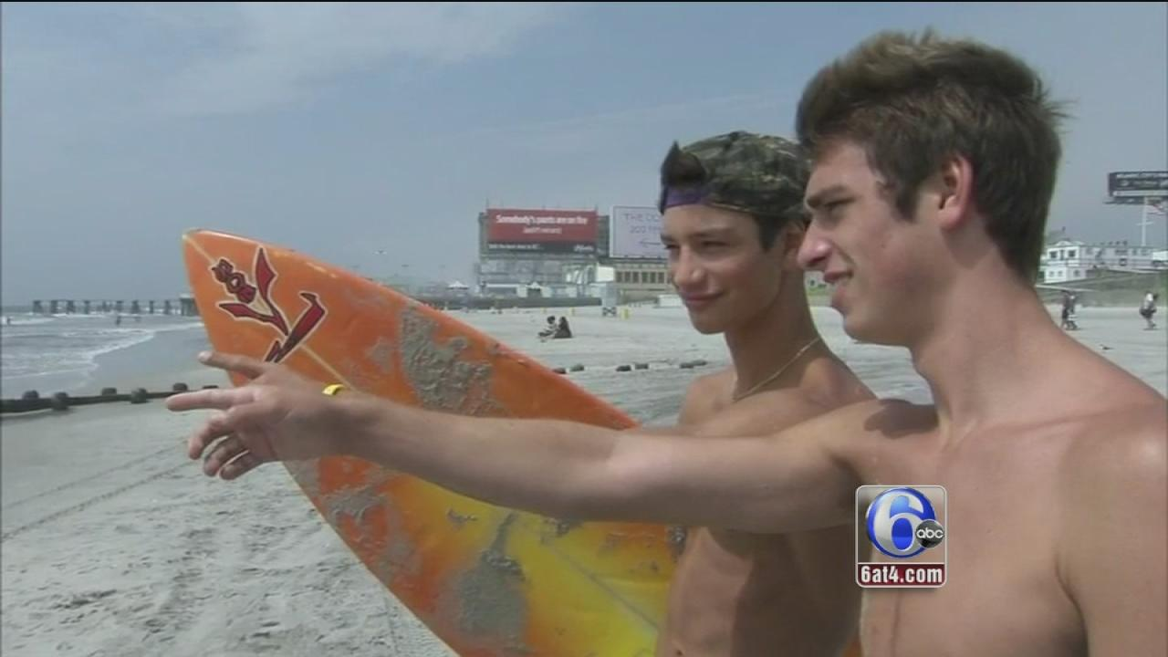 Pa. teens save swimmer in Atlantic City
