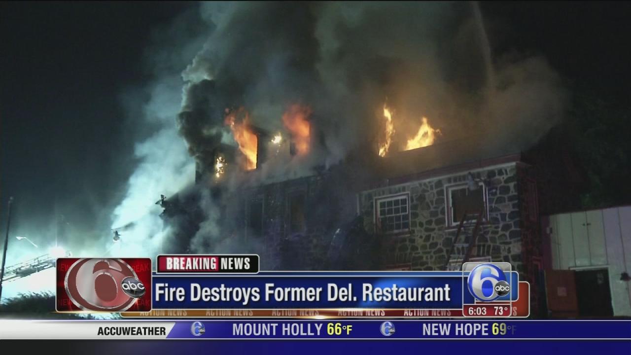 Fire destroys former Del. restaurant