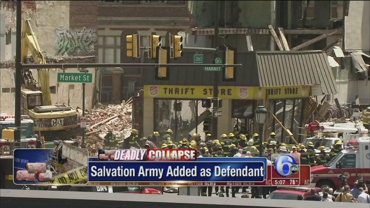 Salvation Army to be named in collapse lawsuits