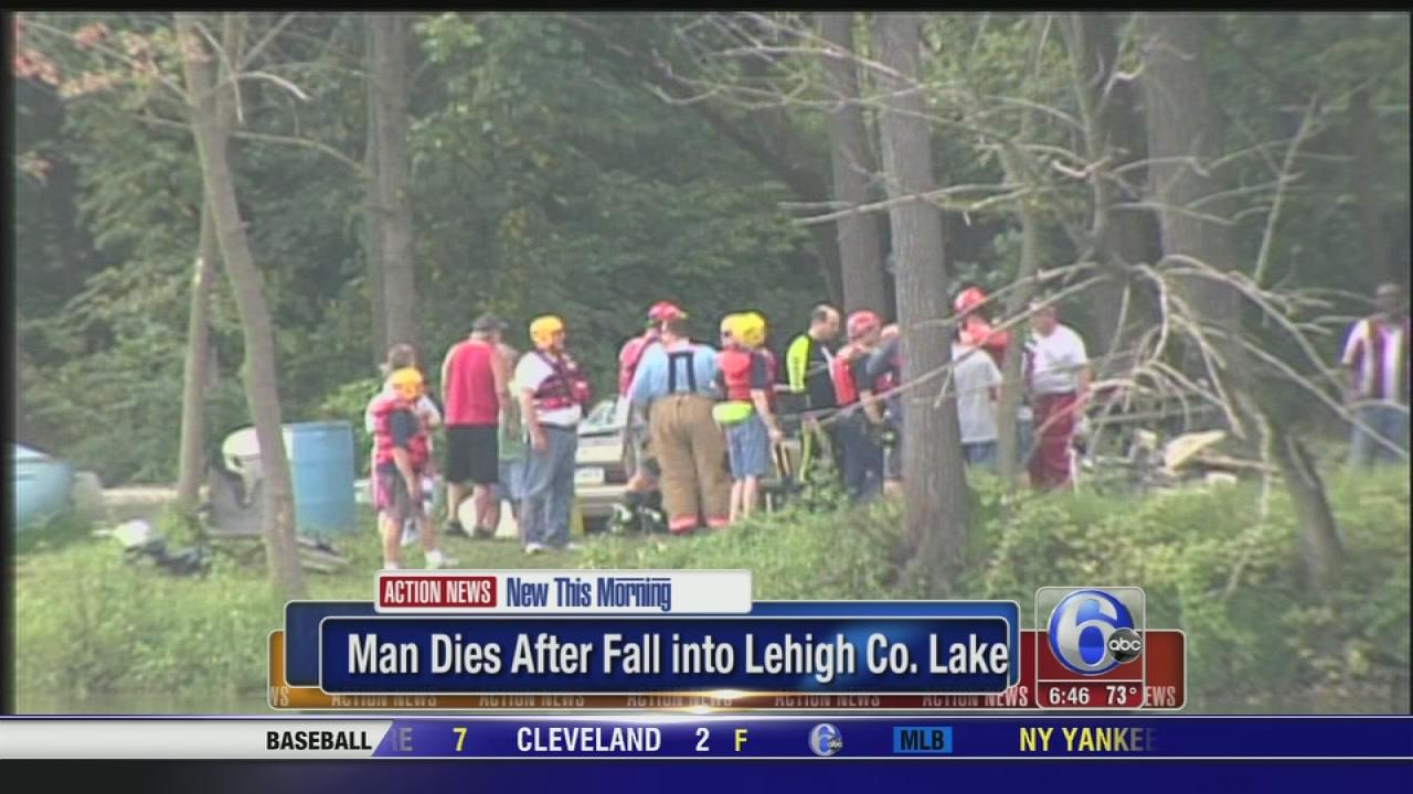 Man dies after fall into Lehigh Co. Lake