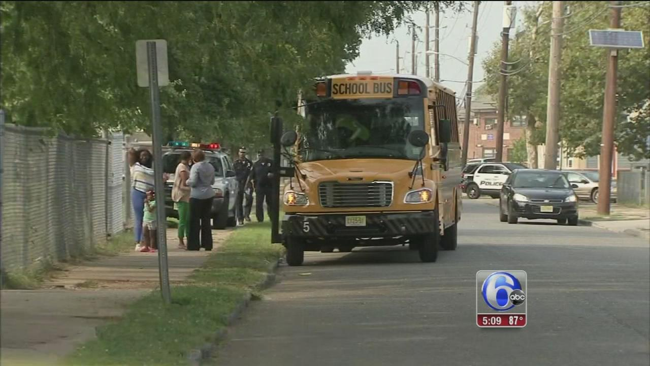 Stray bullet strikes school bus in Camden
