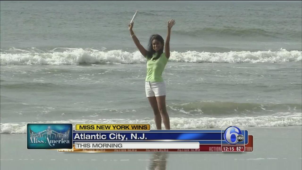 Surf dip in NJ for new Miss America