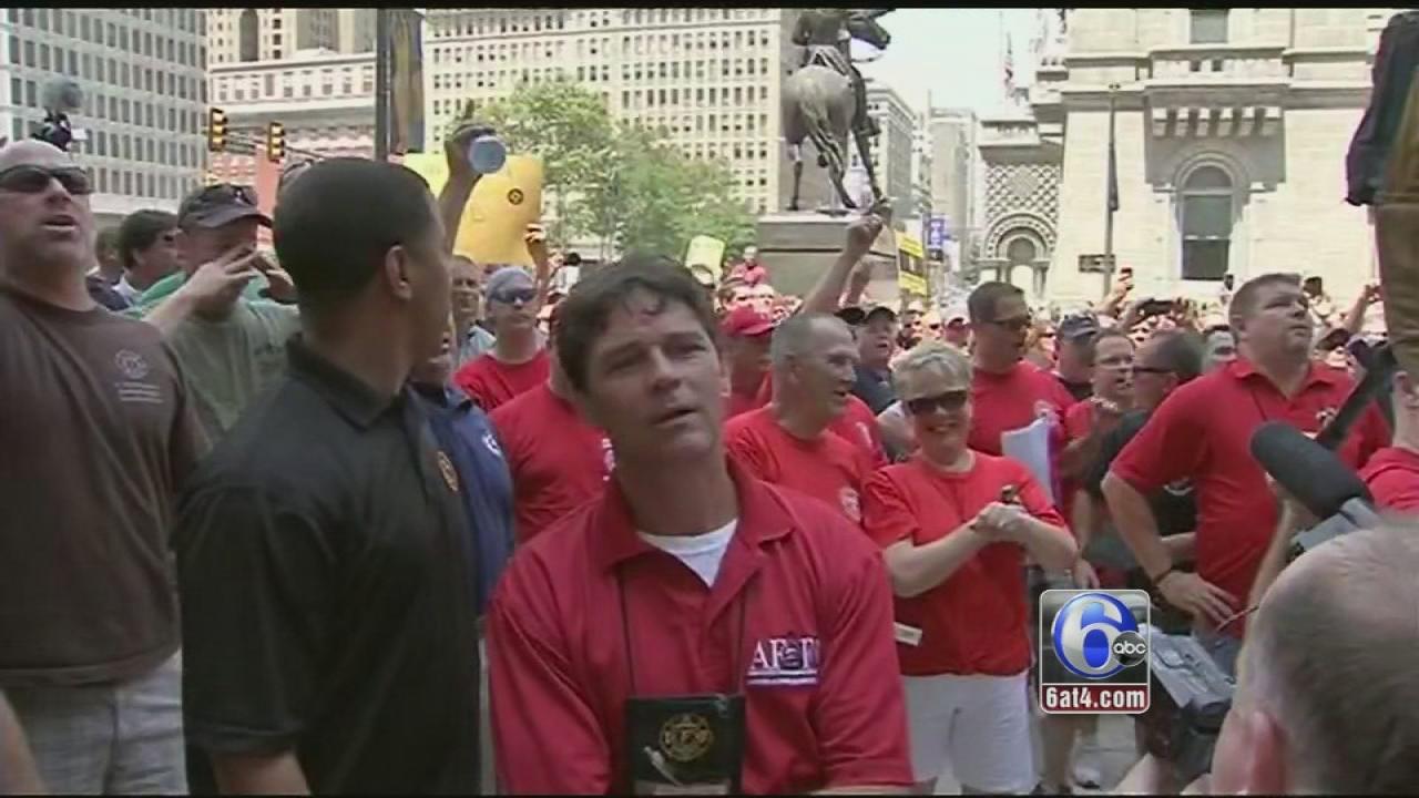 Protests after Philadelphia revokes firefighter promotions