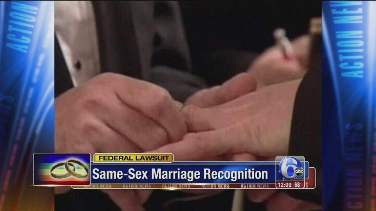 Couple sues Pa. over same-sex marriage ban