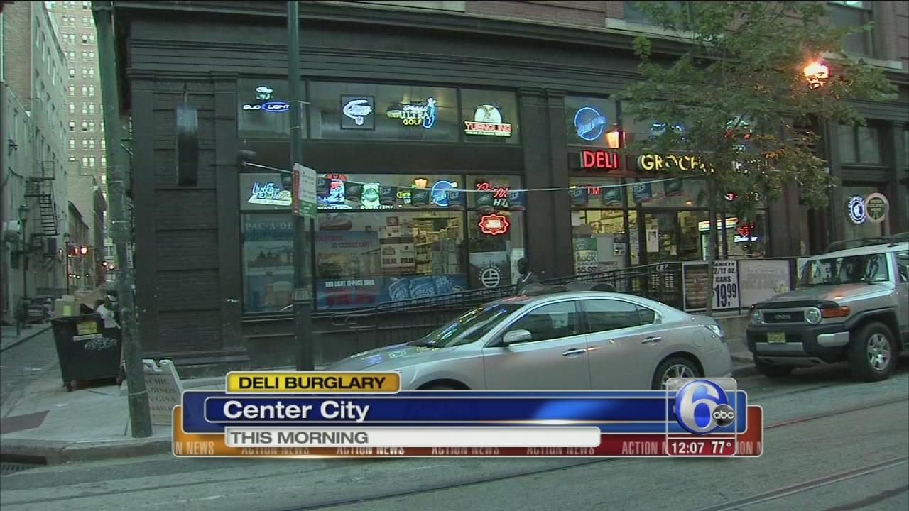 Smash and grab robbery at Center City deli