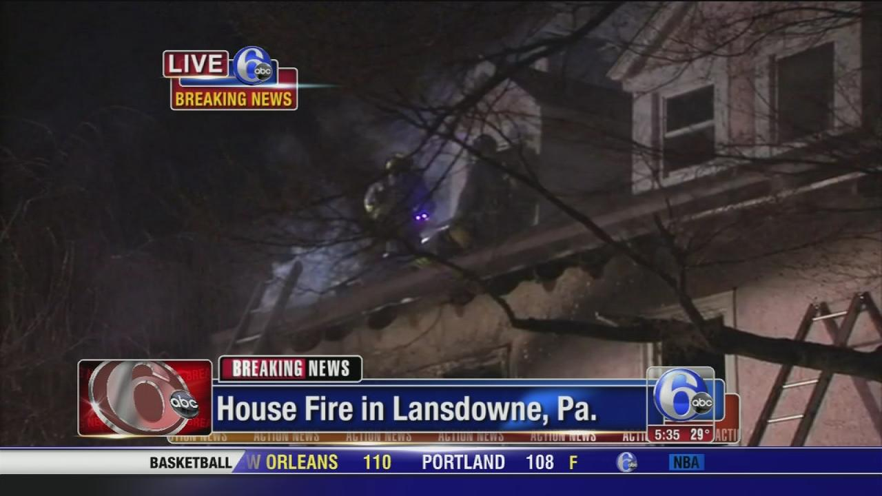 Residents rescued from burning house in Lansdowne